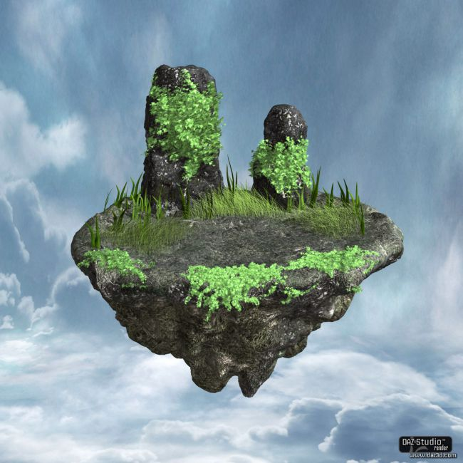 Floating Rock Props For Poser And Daz Studio
