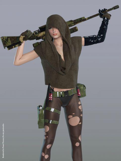 hot nude girl sniper