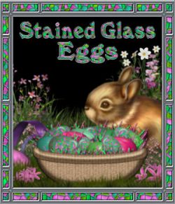 Stained Glass Mosaic Eggs