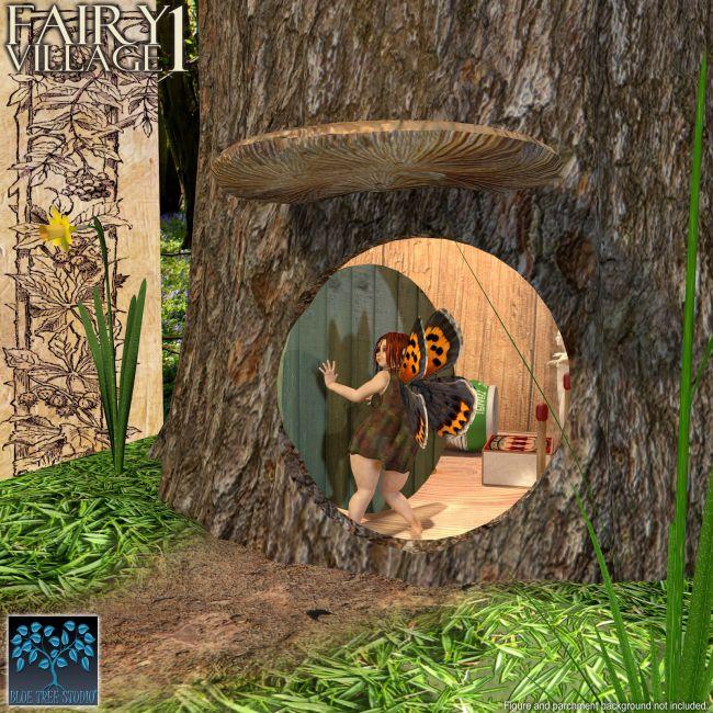 Fairy Village 1 Props For Poser And Daz Studio