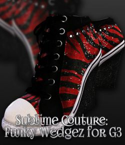 SublimeCouture: Funky Wedgez for Genesis 3 Female(s)