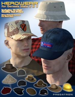 Headwear for Genesis 2 and 3 Male(s)