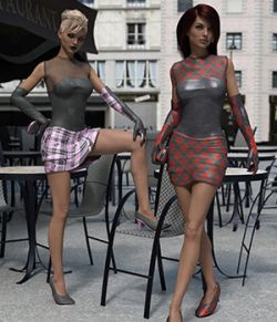 Femme Fatale Cocktail Dress Textures Addon