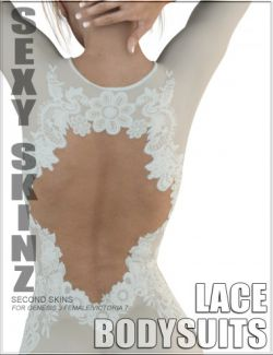 Sexy Skinz - Lace Bodysuits for Genesis 3 Female(s)