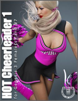 HOT Cheerleader 1 Outfit for Genesis 3 Female(s)
