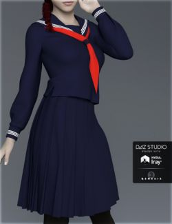 H&C Japanese School Uniforms B for Genesis 3 Female(s)
