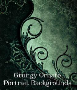 Grungy Ornate Backgrounds 2