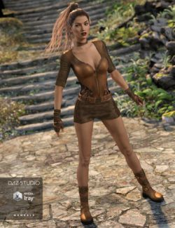 Badlands Roamer Outfit for Genesis 3 Female(s)