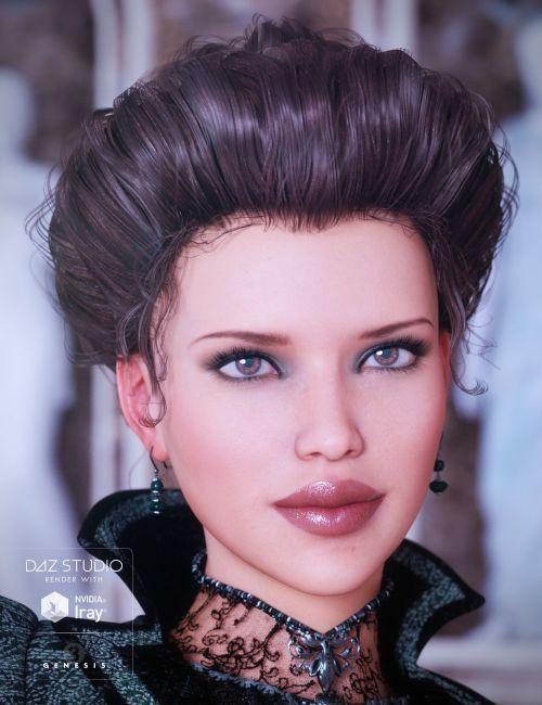Edwardian Hair For Genesis 3 Females 3d Models For Poser And Daz