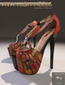 Ava High Heels for Genesis 3 Female(s)