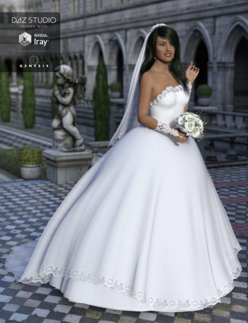 Wedding Dress for Genesis 3 Female(s)