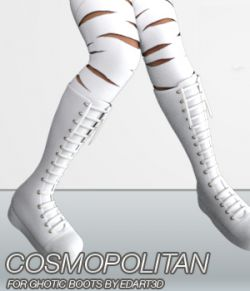 COSMOPOLITAN- Gothic Boots for G3F & Mangastic Satsuki