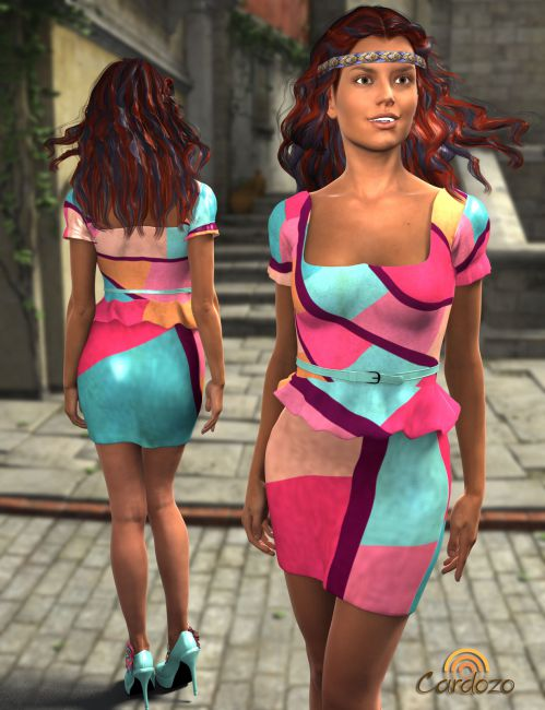 Cardozo Textures for G2F Peplum Dress and Blossom Shoes