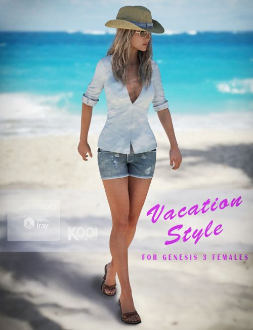 Vacation Style Set for Genesis 3 Female(s)
