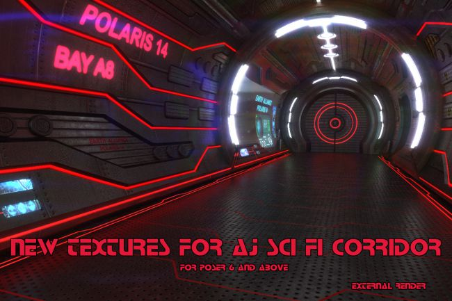 New Textures for AJ Sci Fi Corridor