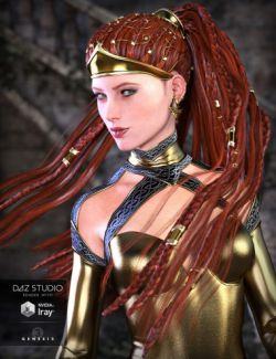 CallaCascade Hair for Genesis 2 and 3 Female(s)