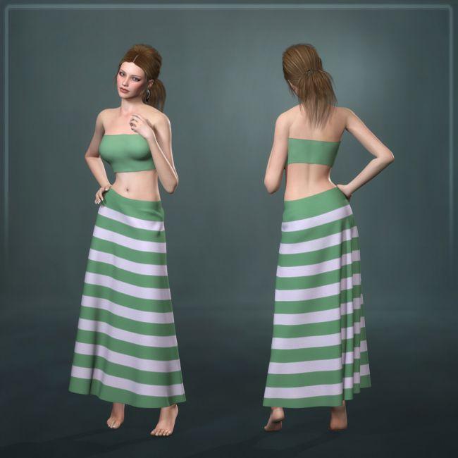 Dynamic Long Skirt 2.0 - Multicharacter