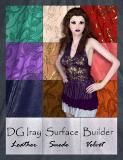 DG Iray Surface Builder- Leather Suede Velvet- Shaders and Merchant Resource