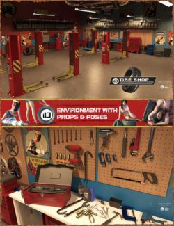 i13 Tire Shop Environment with Poses