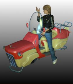 N7 SCOOTER (Poser,.OBJ, can be imported in DAZ)