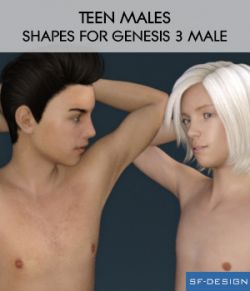 Teen Males - Shapes for Genesis 3 Male