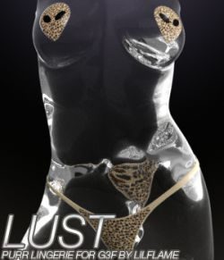 LUST- Purr Lingerie for Genesis 3 Female(s)