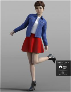 H&C Denim Jacket Outfit for Genesis 3 Female(s)