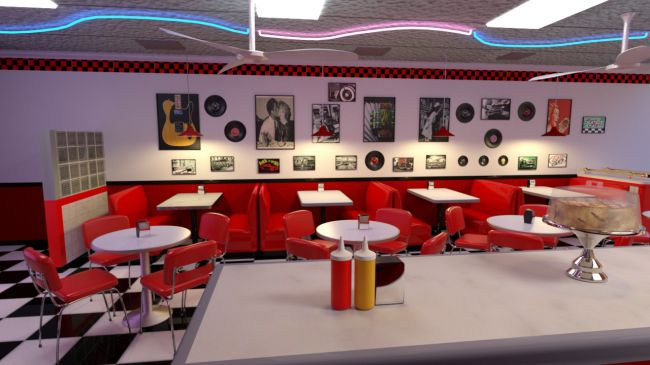 50s Diner 3D Models for Poser and Daz Studio : 4 50s diner from posercontent.com size 650 x 365 jpeg 44kB