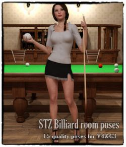 STZ Billiard room poses