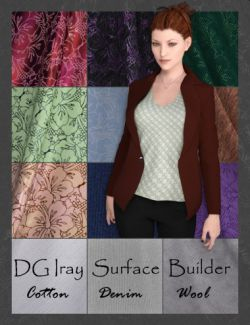 DG Iray Surface Builder- Cotton Denim Wool- Shaders and Merchant Resource
