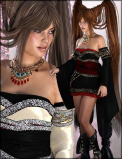 Jade Tiger Clothing and Hair Textures