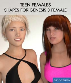 Teen Females- Shapes for Genesis 3 Female