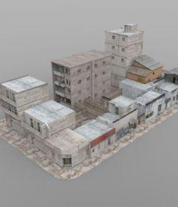 Shanty Town Buildings 2: City Block A (for DAZ Studio)