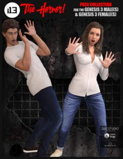i13 The Horror! Pose Collection for the Genesis 3 Male(s) and Genesis 3 Female(s)