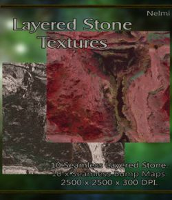 10 Seamless Layered Stone Texture with Bump Maps