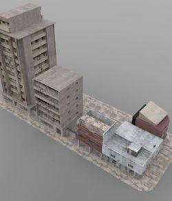 Shanty Town Buildings 2: City Block B (for DAZ Studio)