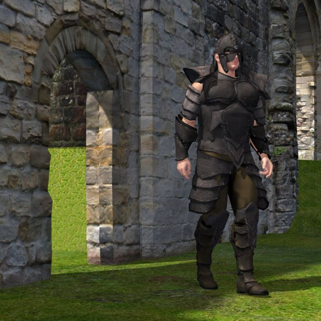 Leather Armor (M4) (for Poser)