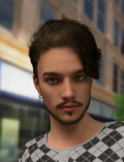 Killian Hair for Genesis 3 Male(s)