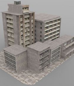 Shanty Town Buildings 2: City Block C (for DAZ Studio)