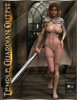 Temple Guardian Outfit and Accessories for Genesis 3 Female(s)