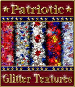 Patriotic Glitterized Seamless Textures