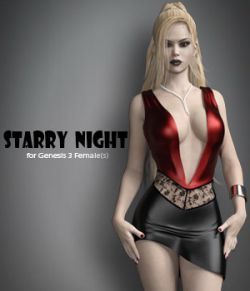 Starry Night for Genesis 3 Female(s)