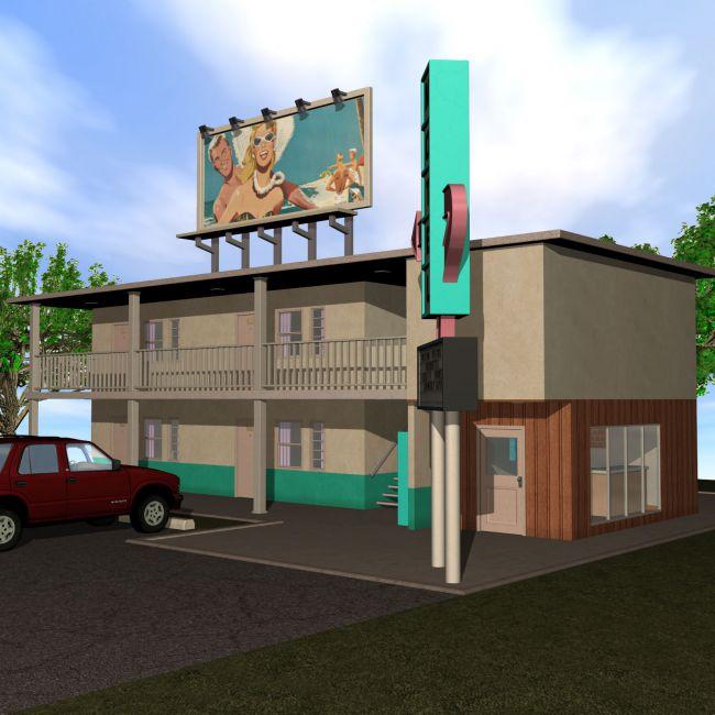 Retro-Motel Building Set