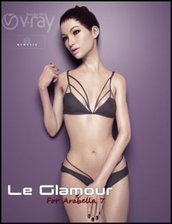 Le Glamour Poses for Arabella 7