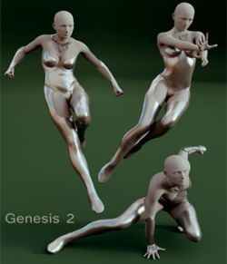 Superhero Poses for Genesis 2 & Victoria 6