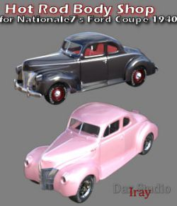 Hot Rod Body Shop Series 1 for Nationale7 Ford Coupe 1940