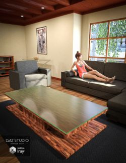 Interior Living Room Set
