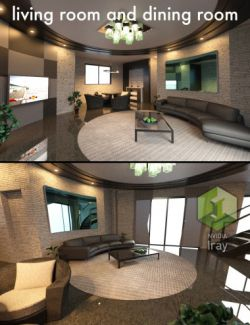 Tesla Living Room and Dining Room