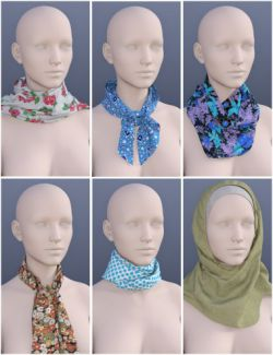 Scarves for Genesis 3 Female(s)