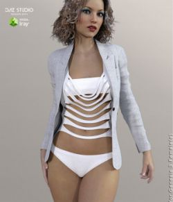 Blazer of Business Outfits for Genesis 3 Female